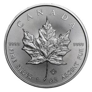 1 oz Silber Maple Leaf 2018 - 5 Dollar Kanada Stempelglanz Silbermünze 999,9