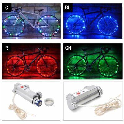 20LED Bike Bicycle Cycling Rim Lights LED Wheel Spoke Light String Strip Lamp AA
