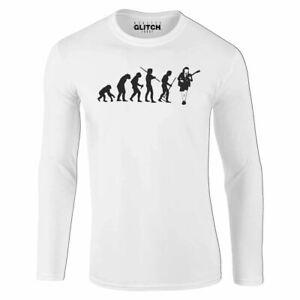 Herren-Evolution-Of-Angus-Young-Langarm-T-Shirt-Geschenk