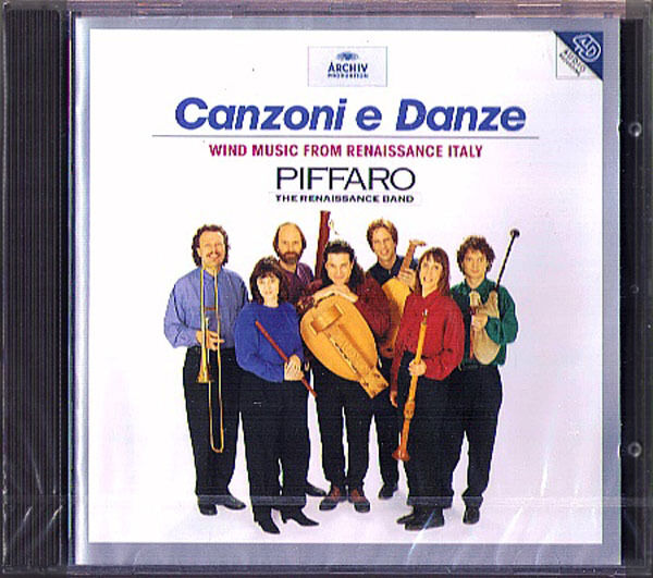 CANZONI E DANZE Wind Music from Renaissance Italy PIFFARO CD Robert Wiemken NEU