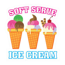 Soft Serve Ice Cream Concession Restaurant Food Truck Die Cut Vinyl Sticker
