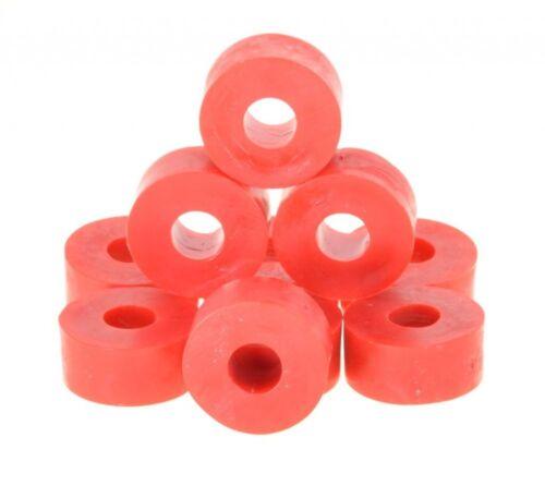 rot 10 x Unterlegscheibe Gummi 27 x 14mm M10 Bohrung Hartgummi