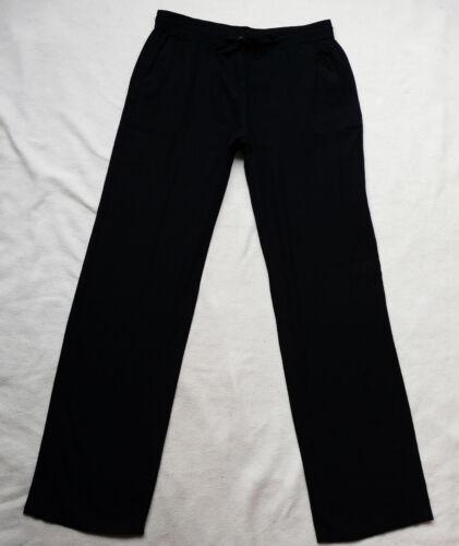 BNWT NEXT NEW Ladies navy blue straight parallel leg linen blend trousers R//L