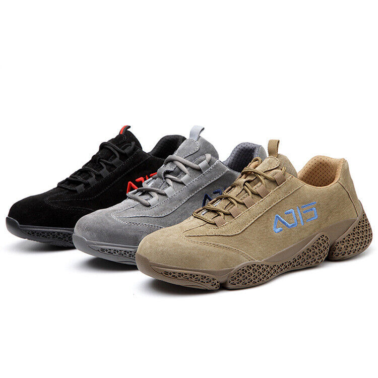 2021 Men's Fur Safety Trainers Steel Toe cap Women's Work Shoes Hiking boots New