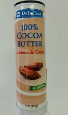 100% COCOA BUTTER/ MANTECA DE CACAO ALL NATURAL 1OZ