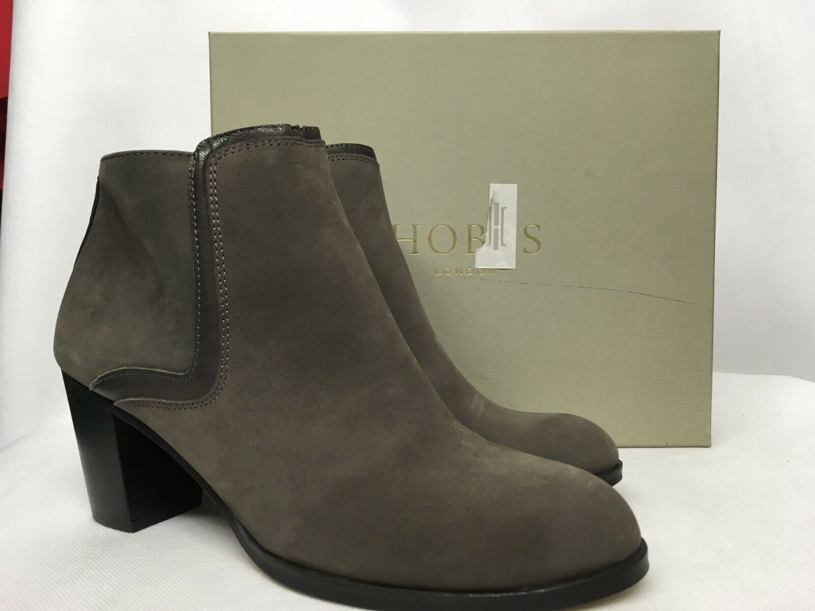 Hobbs Carys Nubuck Grey Ankle Boots. Various Sizes.