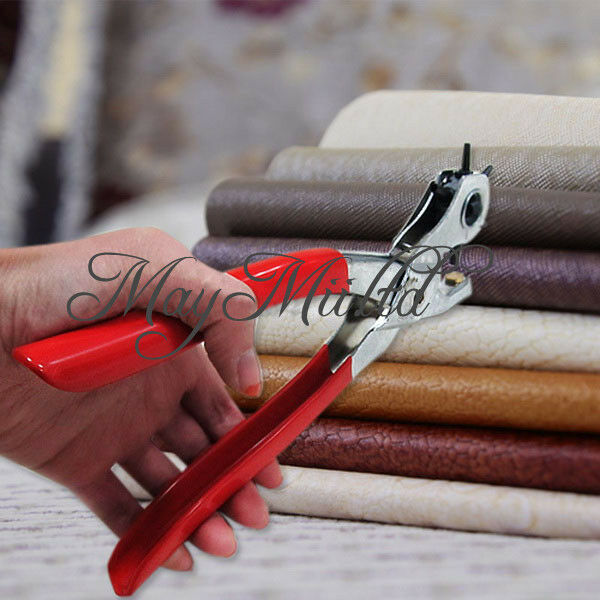 Revolving Leather Strap Watch Band Belt Punch Plier Hollow Hole Stamp Puncher J