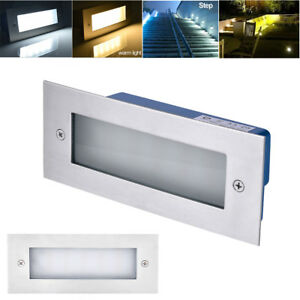 UK LED Stainless Steel Mini Brick Light Outdoor Garden Recessed Step Wall Lights