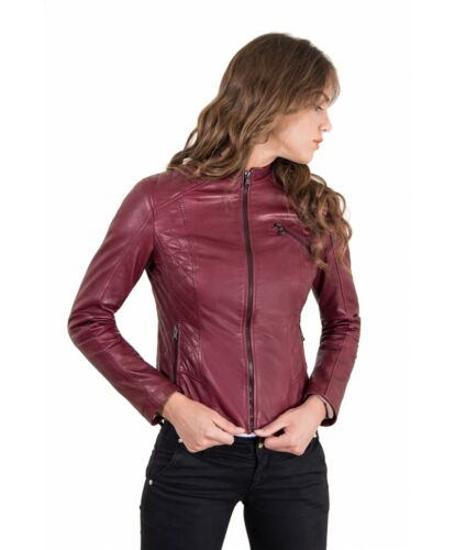 D/'ARIENZO Giacca in Pelle Donna Made in Italy Vera Pelle