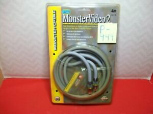BRAND NEW MONSTER CABLE S-VIDEO MONSTERVIDEO2 4M 13.1 FT 24K GOLD PINS & SHELL