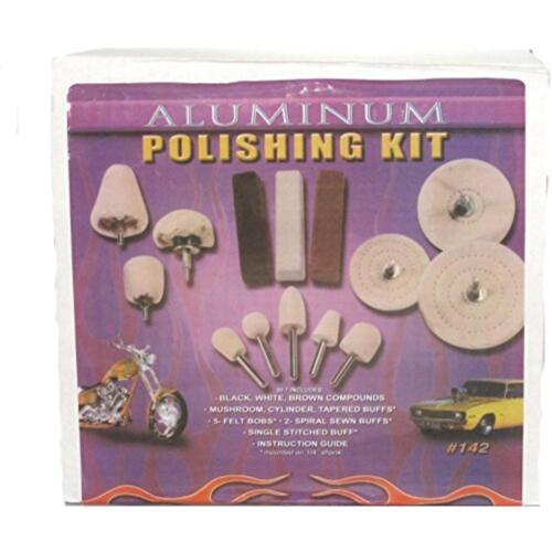 Enkay Aluminum polishing kit #142 with Compounds and Buffing Wheels