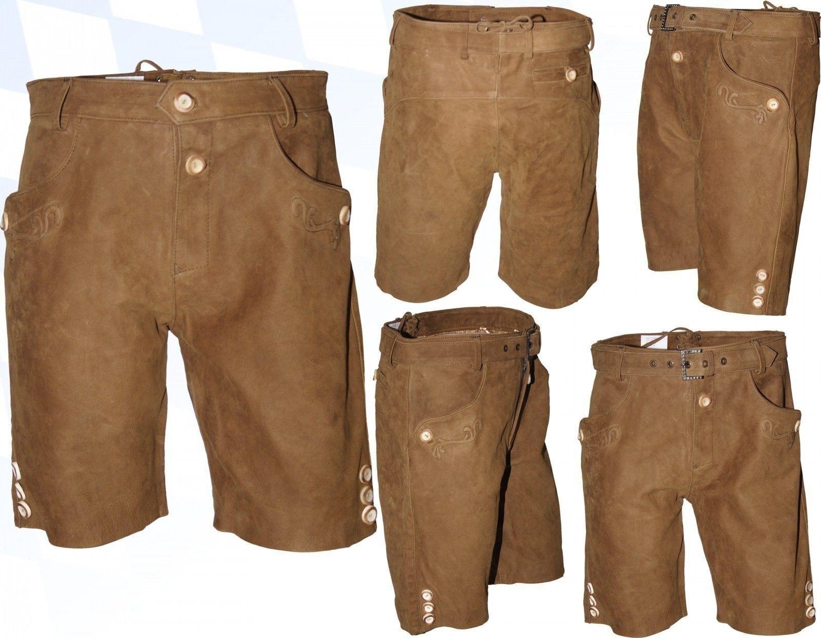 Breve Breve Breve deportiva Lederhose cuero Trachten pantalones bordado plattlerhose a78d29