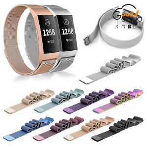 For-Fitbit-Charge-3-Band-Metal-Stainless-Steel-Milanese-Loop-Wristband-Strap