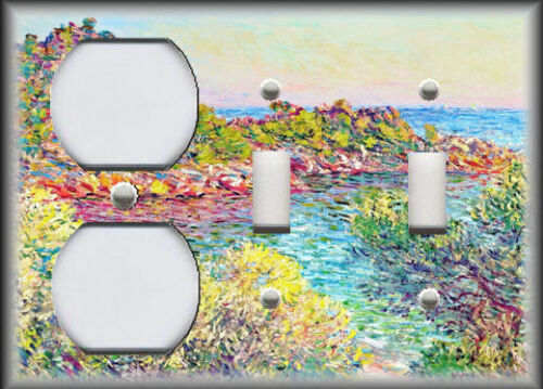 Metal Monet Art Light Switch Plate Cover Monet Art Flower Landscape Monet Decor