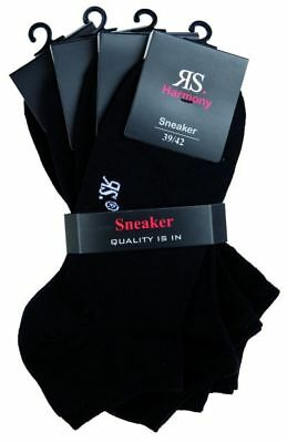 *neu 6, 12x Sneaker Socken Auch Xxxl 35-38,39-42,43-46,47-49,50-52,52-54 Schwarz Um Sowohl Die QualitäT Der ZäHigkeit Als Auch Der HäRte Zu Haben