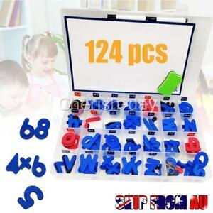 124X-ALPHABET-LETTERS-NUMBER-Math-Magnetic-Fridge-Kid-Child-Educational-Toys-AU