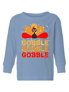 Thanksgiving-Toddler-Long-Sleeve-Shirt-for-Boys-Girls-Gobble-Turkey-Kids-T-Shirt