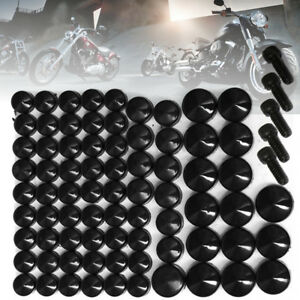 75pcs-Black-Bolt-Topper-Caps-Cover-Kit-For-Harley-Davidson-Dyna-Softail-Twin-Cam
