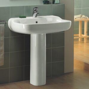 Ideal Standard Lavabi Arredo.Ideal Standard T0980 Cham Lavabo Conca Con Colonna Champagne Cm 69x57 Ebay