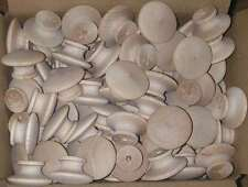 "300 ROUND 1 1//2/"" BIRCH WOOD KNOBS Unfinished Pulls Cabinet Handles w// screws"