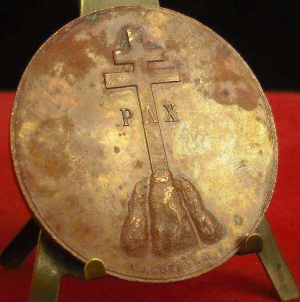 * Rare Médaille Pax Paix Peace Pace Vers 1920 Essai ? Par A J Corbierre Medal Belle En Couleur