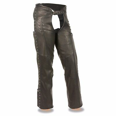 63-360-2-102 Black Medium Tough-1 Youth Vest /& Chap Set w// Stars