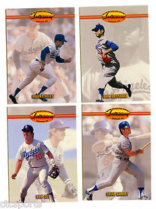 Los-Angeles-Dodgers-1993-Ted-Williams-Card-Co-Baseball-Lot-DB