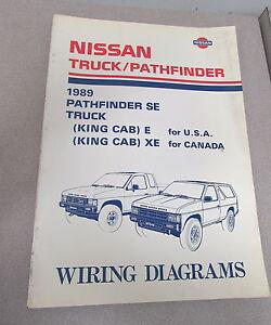 1989 nissan truck pathfinder wiring electrical service repair diagram manual    ebay  ebay