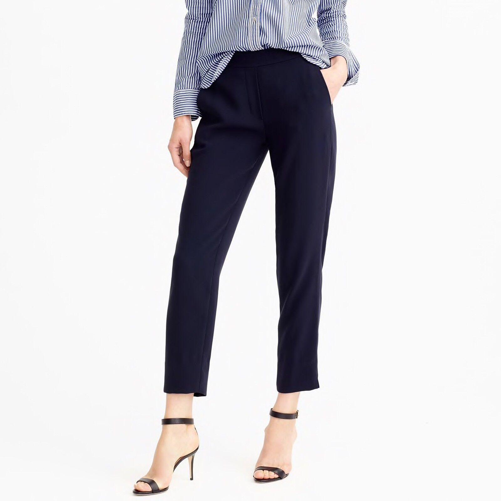 110 J.CREW Size 00 Easy Pant NAVY Style E1756