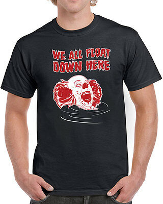 244 We All Float Tank Top scary clown movie horror pennywise 80s 80s cult new