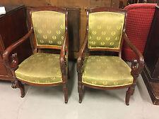 Paire de fauteuils Restauration acajou