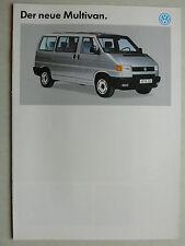 Prospekt Volkswagen VW Bus T4 Multivan, 9.1991, 8 Seiten