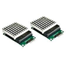 2x Max7219 Dot Matrix Led Module Display For Arduino Pi Mcu Diy