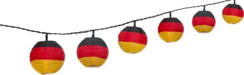 3 Stück LED Lichterketten je 10er WM Handball Deutschland Garten mit Netzstecker