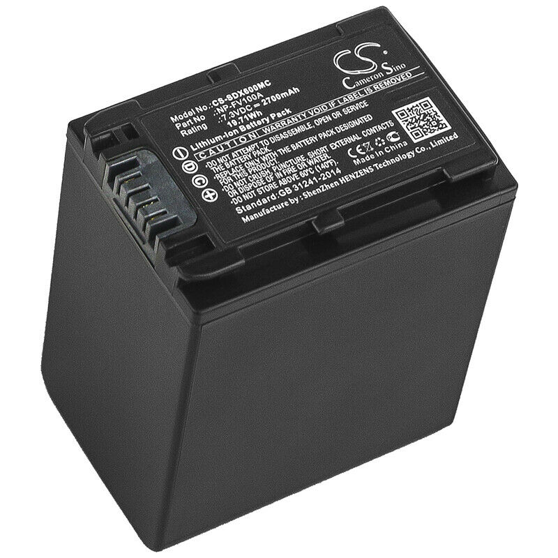 7.3V Battery for Sony FDR-AX700 NP-FV100A Quality Cell NEW