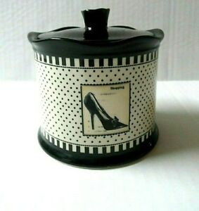 Trinket-Dish-Kim-Poloson-Ceramic-Covered-Jar-Canister-Container-Fashion-Theme