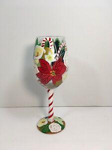 Lolita-Holiday-Beauty-Christmas-Custom-Hand-Painted-Wine-Glass-Rare-Retired
