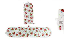 Double Oven Glove Afternoon Tea//Polka Dot Designs 82cm x 18cm 100/% Cotton Cheap!