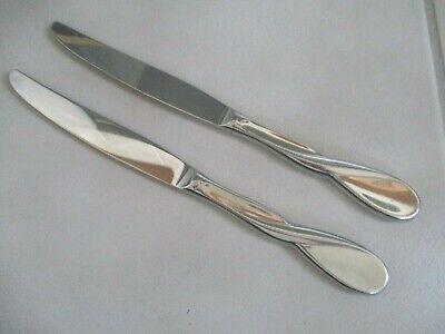 4 Dinner Knives AQUARIUS Glossy Oneida Stainless Steel Flatware