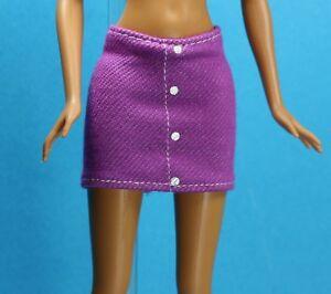 22d0514dc Sparkle Girlz Stretch Denim Ruffle Mini Skirt fits Barbie Made to Move Doll  Barbie Contemporary ...