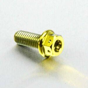 Pro Bolt Titanium DualDrive Bolt M8 (1.25mm) x 20mm Race Spec Gold