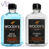Woody's Quality Grooming For Men Styling Gel Mega Firm Hold 12oz, Made In Usa