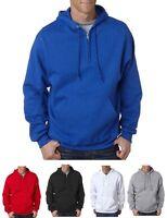 Jerzees NEW Mens S-3XL NuBlend 996QZ 1/4 Zip Hooded Sweatshirt Hoodie Jumper