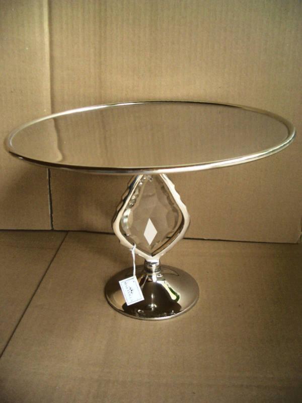 Tortenplatte MARAVILLA  Aluminium+Glaskristall .