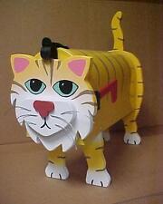 💗 Orange Cat Mailbox Custom Animal Mailboxes Postal Mail Box