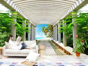 3D Sommer Korridor 86 Tapete Wandgemälde Tapete Tapeten Bild Familie DE Summer