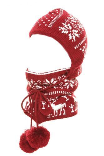 Homme femme en maille à capuche Balaclava cou plus chaud Snood Réglable Hiver écharpe