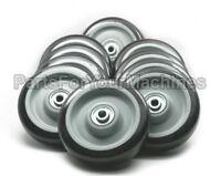 10 Non Marking Wheels, 5x1-1/4, 3/8 Axle , Floor Buffers, Carts, Shelves,toys