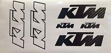 6 KTM Carbon Fiber Decals Stickers Graphics SX SXF XC EXC MXC MX Moto Motocross