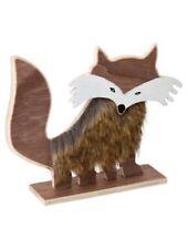 Wooden animal Nordic Scandinavian woodland Decoration Ornament Fox Raccoon